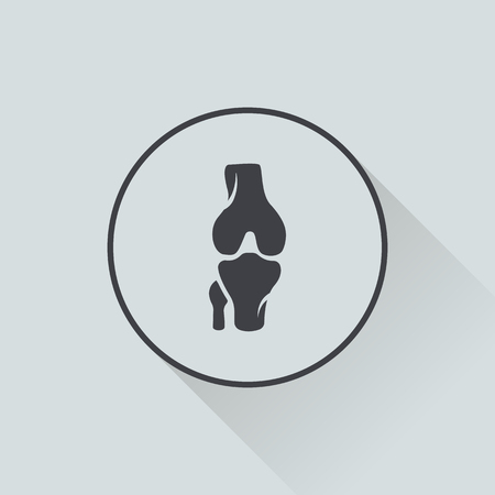 physiology: vector illustration of modern b lack icon bone Illustration