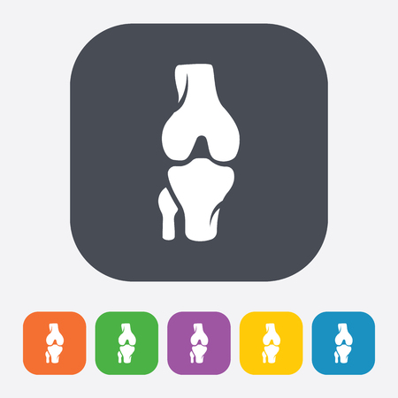 patella: vector illustration of modern b lack icon bone Illustration