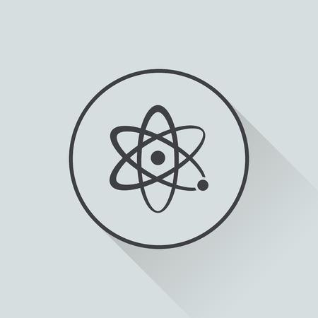 vector illustration of modern b lack icon atom