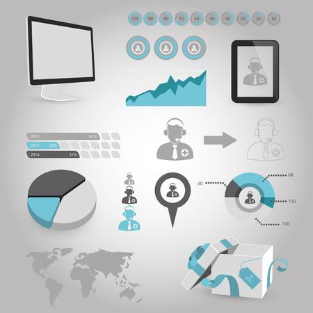 dispatcher: vector illustration of modern b lack icon dispatcher