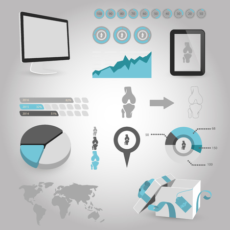 vector illustration of modern b lack icon bone Illustration