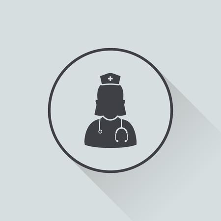 vector illustration of modern b lack icon doctor Иллюстрация