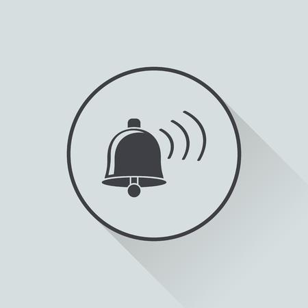 ring tones: vector illustration of modern b lack icon bell Illustration