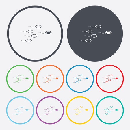 insemination: vector illustration of modern b lack icon sperm