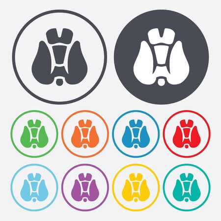 vector illustration of modern b lack icon thyroid Vectores
