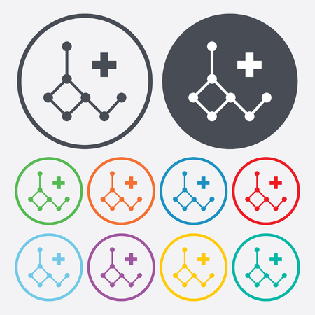 deoxyribonucleic: vector illustration of modern b lack icon deoxyribonucleic acid