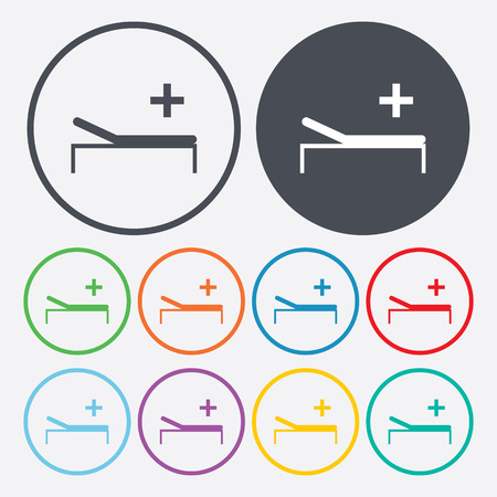 health facility: vector illustration of modern b lack icon hospital Illustration