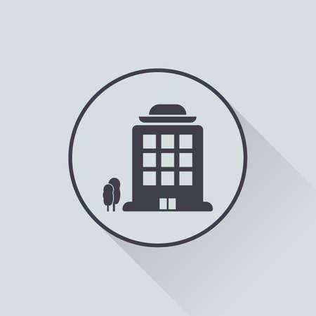 headquarter: illustration of vector office modern icon in design