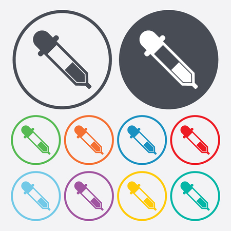pipet: vector illustration of modern b lack icon pipette