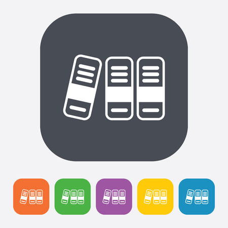 retain: illustration of vector office modern icon in design
