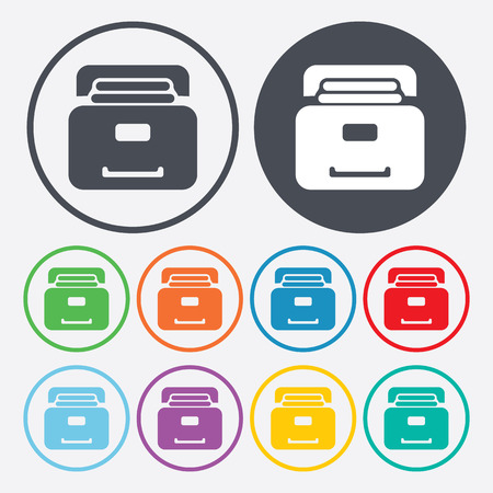 protected database: illustration of vector office modern icon in design