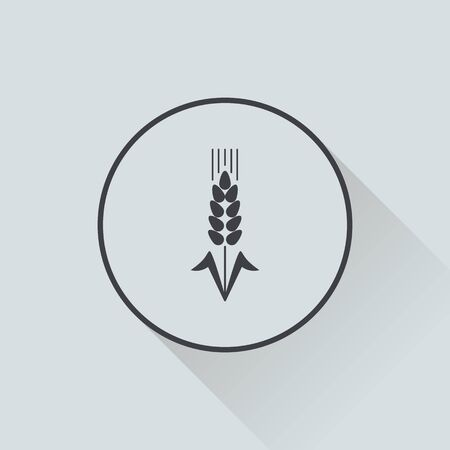 agriculture icon: vector illustration of modern silhouette icon wheat