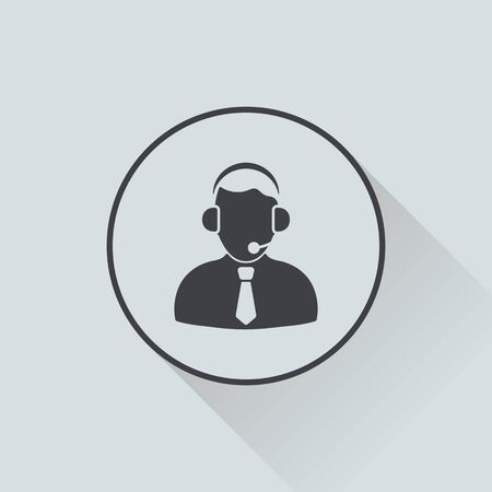 service man: vector illustration of business and finance icon person