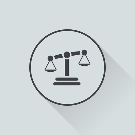 lawsuit: vector illustration of business and finance icon scales Illustration
