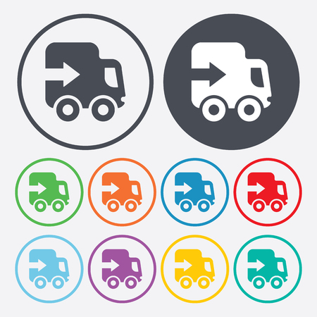 express: vector illustration of modern silhouette icon express service Illustration