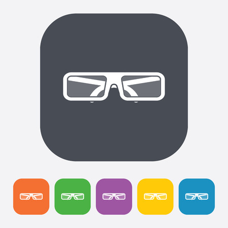 glass reflection: vector illustration of modern b lack icon glasses 3d