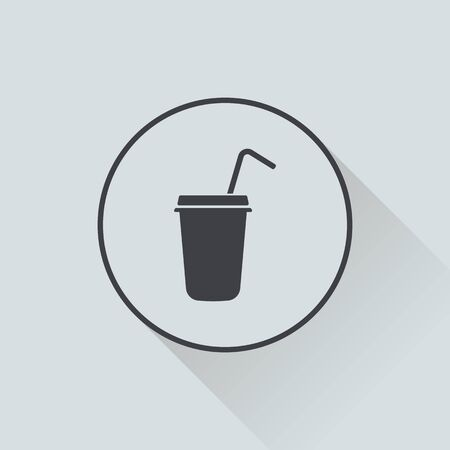 instant coffee: vector illustration of modern b lack icon coffee