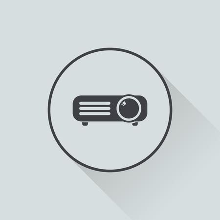 con: vector illustration of modern i con projector Illustration