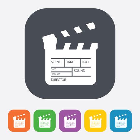 slate film: vector illustration of modern b lack icon clapper board