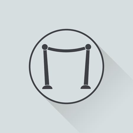prestige: vector illustration of modern b lack icon red carpet Illustration