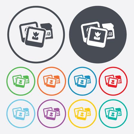 con: vector illustration of modern i con photographs Illustration