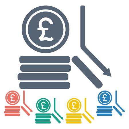 sterlina: illustrazione vettoriale di affari e finanza monete icona sterlina