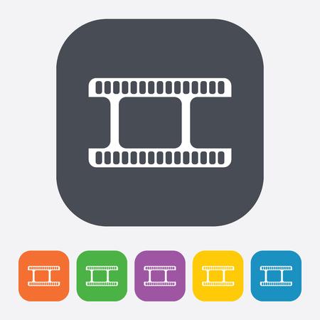 photo icon: vector illustration of modern b lack icon frame cinema