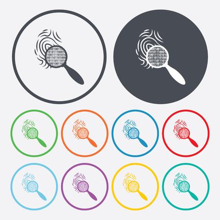 fingermark: vector illustration of modern b lack icon fingerprint