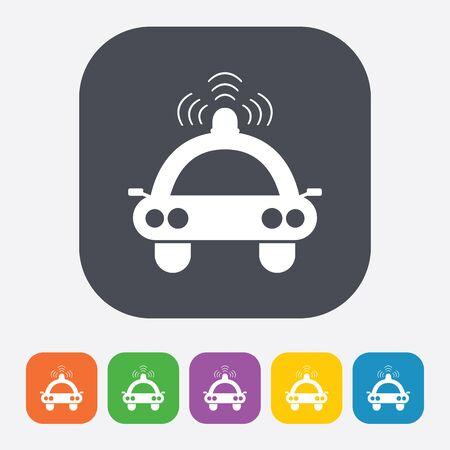 highway patrol: vector illustration of modern b lack icon spotlight