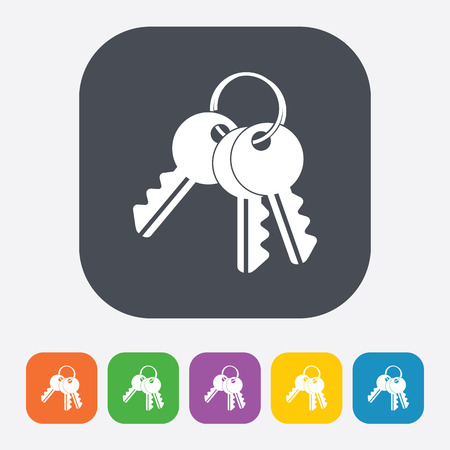 10 key: vector illustration of modern b lack icon key