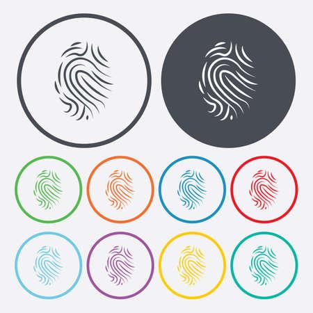 thumbprint: vector illustration of modern b lack icon fingerprint