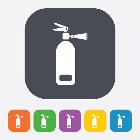 foam safe: vector illustration of modern b lack icon fire extinguisher Illustration