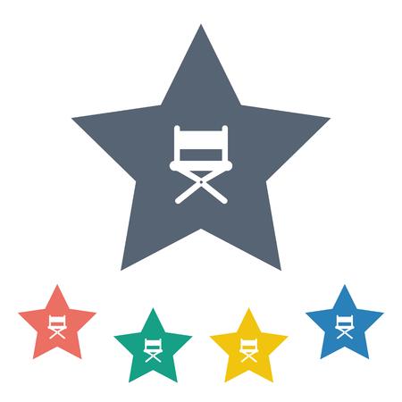 famosos: ilustración vectorial de la moderna icono b falta alfombra roja Vectores