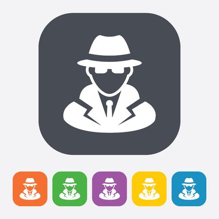 private: vector illustration of modern b lack icon detective