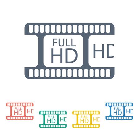 photo real: vector illustration of modern b lack icon frame cinema