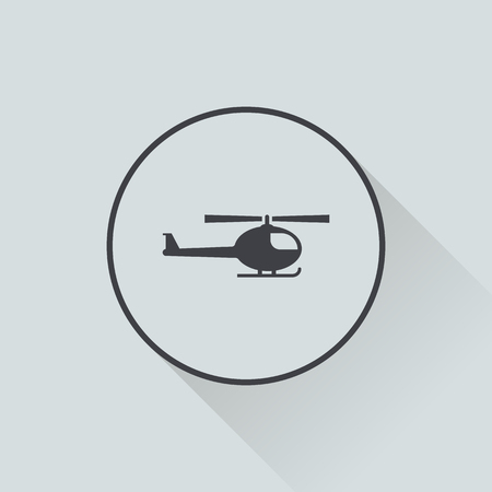 sikorsky: vector illustration of modern b lack icon helicopter Illustration
