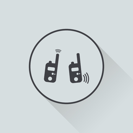 portability: vector illustration of modern b lack radio