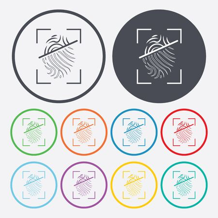 fingermark: vector illustration of modern b lack icon fingerprint
