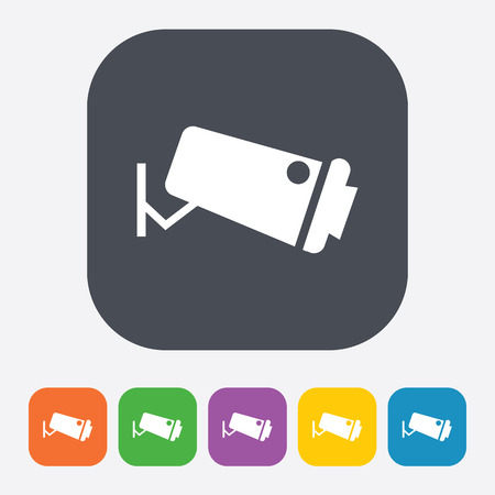 private viewing: vector illustration of modern b lack icon camera