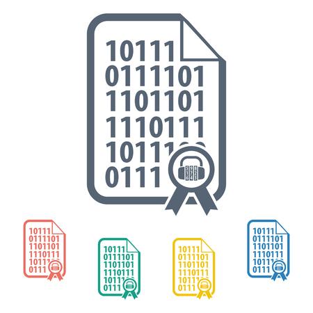 program code: vector illustration of modern b lack icon program code