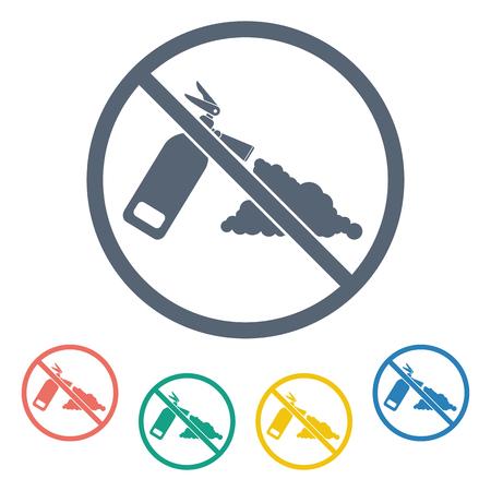 precaution: vector illustration of modern b lack icon fire extinguisher Illustration