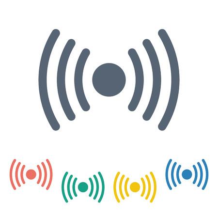vector illustration of modern b lack icon signaling