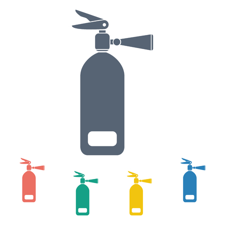 vector illustration of modern b lack icon fire extinguisher Ilustração
