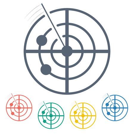 radar gun: vector illustration of modern b lack icon radar