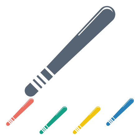 nightstick: vector illustration of modern b lack icon baton protection