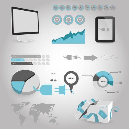 socket adapters: illustration of vector building modern icon in design Illustration
