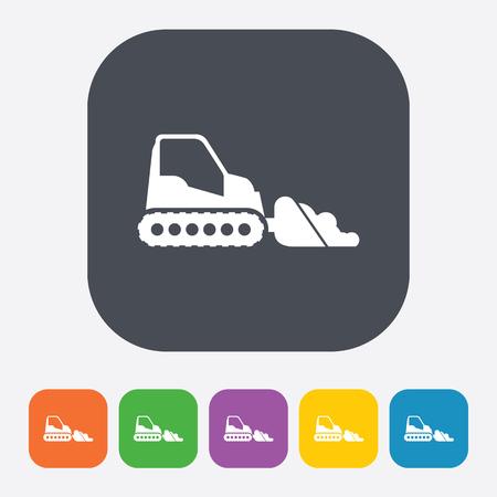 bulldozer: illustration of vector building modern icon in design Illustration