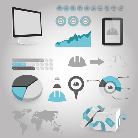 hard cap: illustration of vector building modern icon in design Illustration