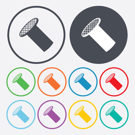 hobnail: illustration of vector building modern icon in design Illustration