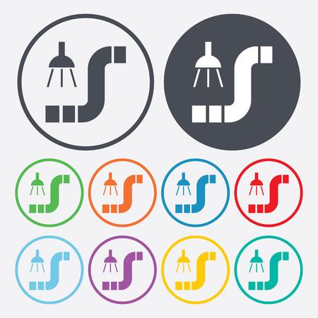 ditch: illustration of vector building modern icon in design Illustration